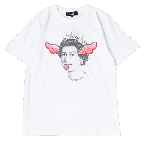 Style code 18SCDFTE0005PNK. Medicom Sync x D*FACE Queen T-shirt White / Pink