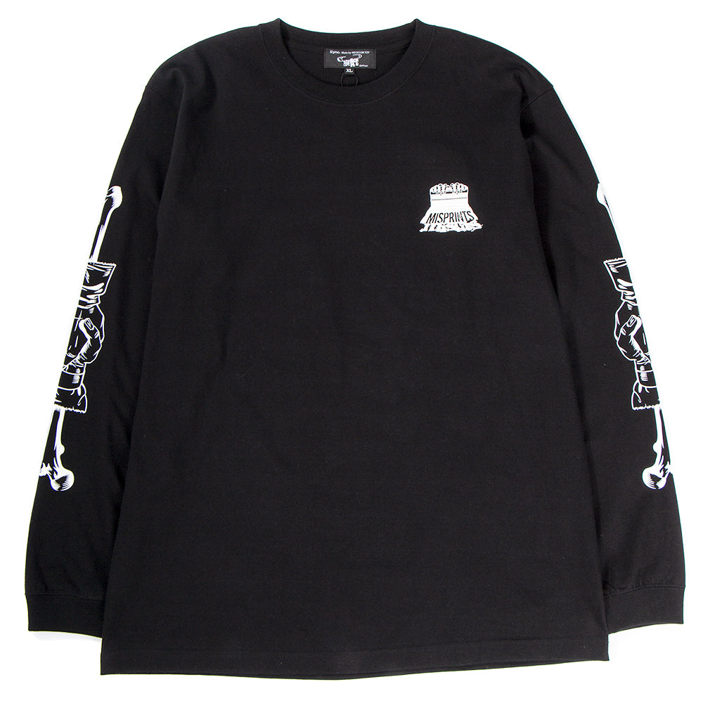 Style code 18SCDFTE0007BLK. Medicom Sync x D*FACE Misprint Long Sleeve T-shirt / Black