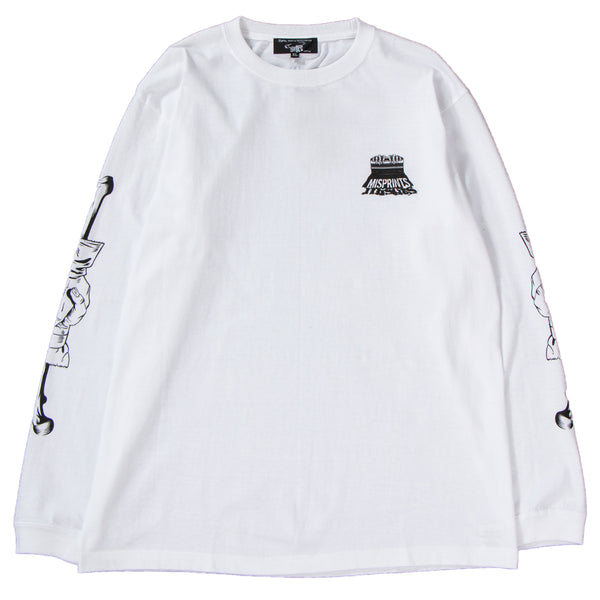 Style code 18SCDFTE0007WHT. Medicom Sync x D*FACE Misprint Long Sleeve T-shirt / White