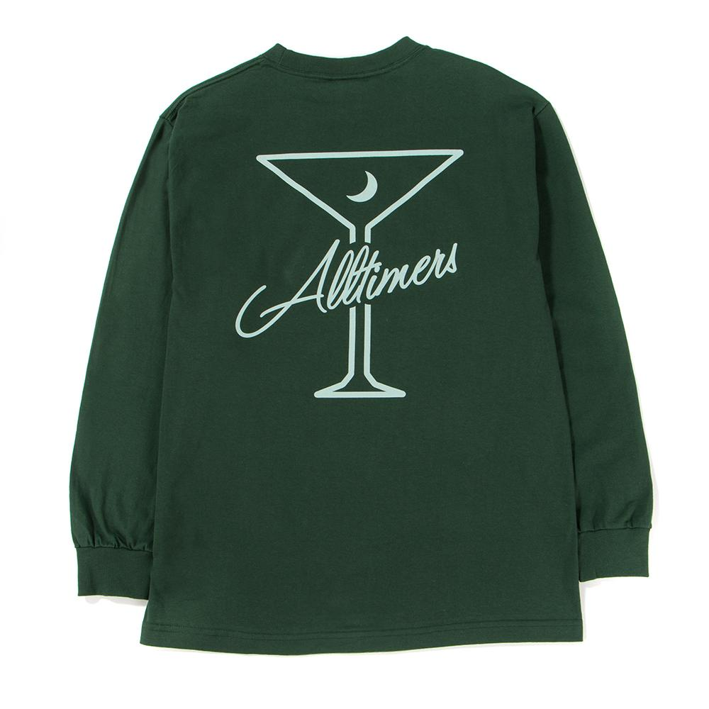 Alltimers Late Long Sleeve T-Shirt / Forest Green