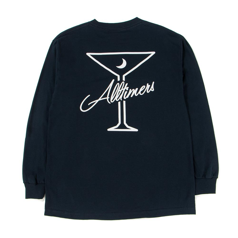 ALLTIMERS LATE LONG SLEEVE T-SHIRT / NAVY