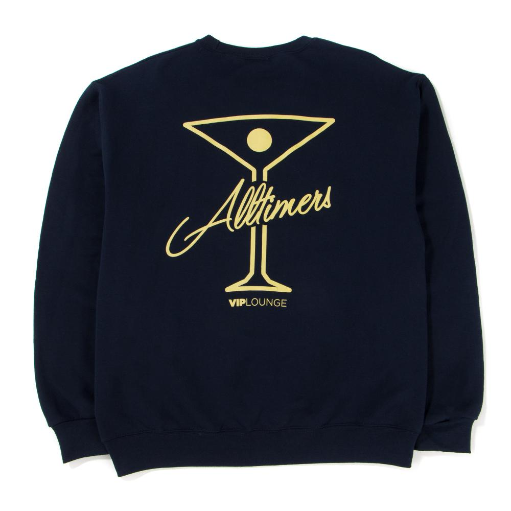 Style code 18SP01AP0303NVY. ALLTIMERS LEAGUE PLAYER CREWNECK / NAVY