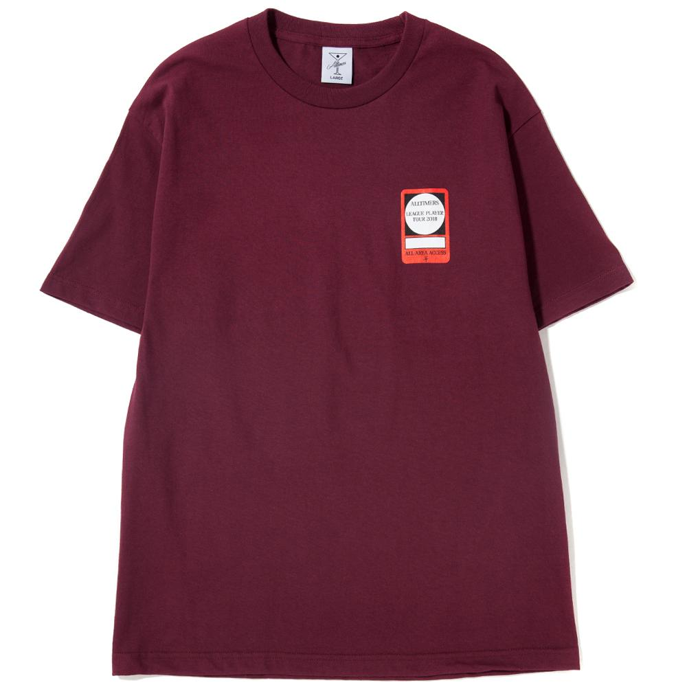 Style code 18SP02AP0202BUR. ALLTIMERS PASS T-SHIRT / BURGUNDY