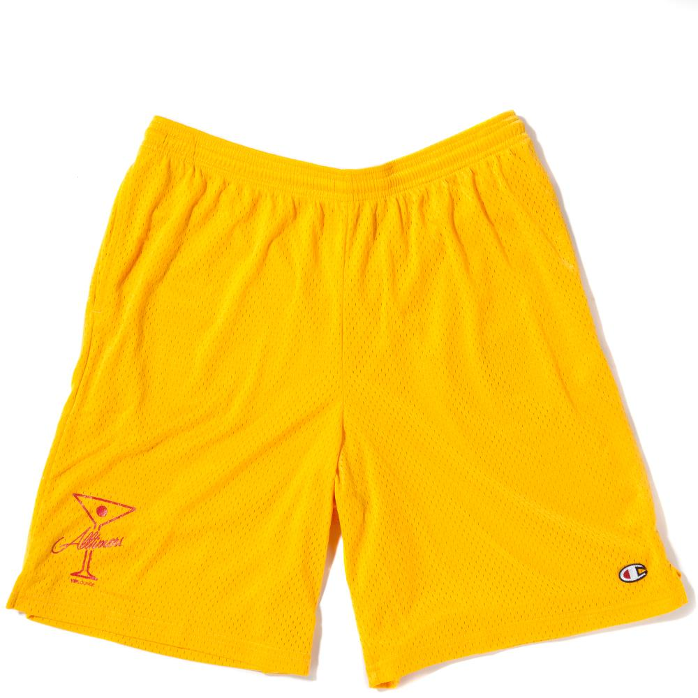 Style code 18SP02AP0801GOL. ALLTIMERS LEAGUE PLAYER SHORTS / TEAM GOLD