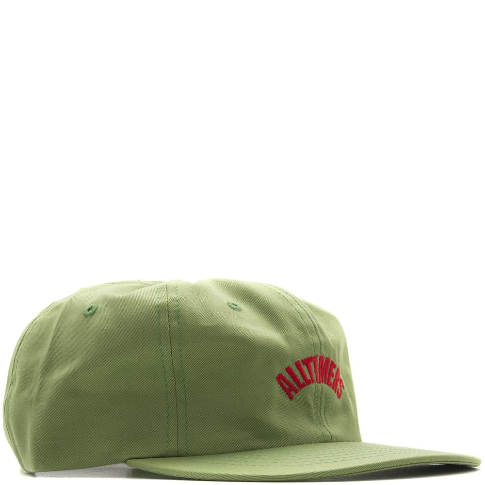 Style code 18SP02AP1101LIM. ALLTIMERS ARCH HAT / LIME GREEN