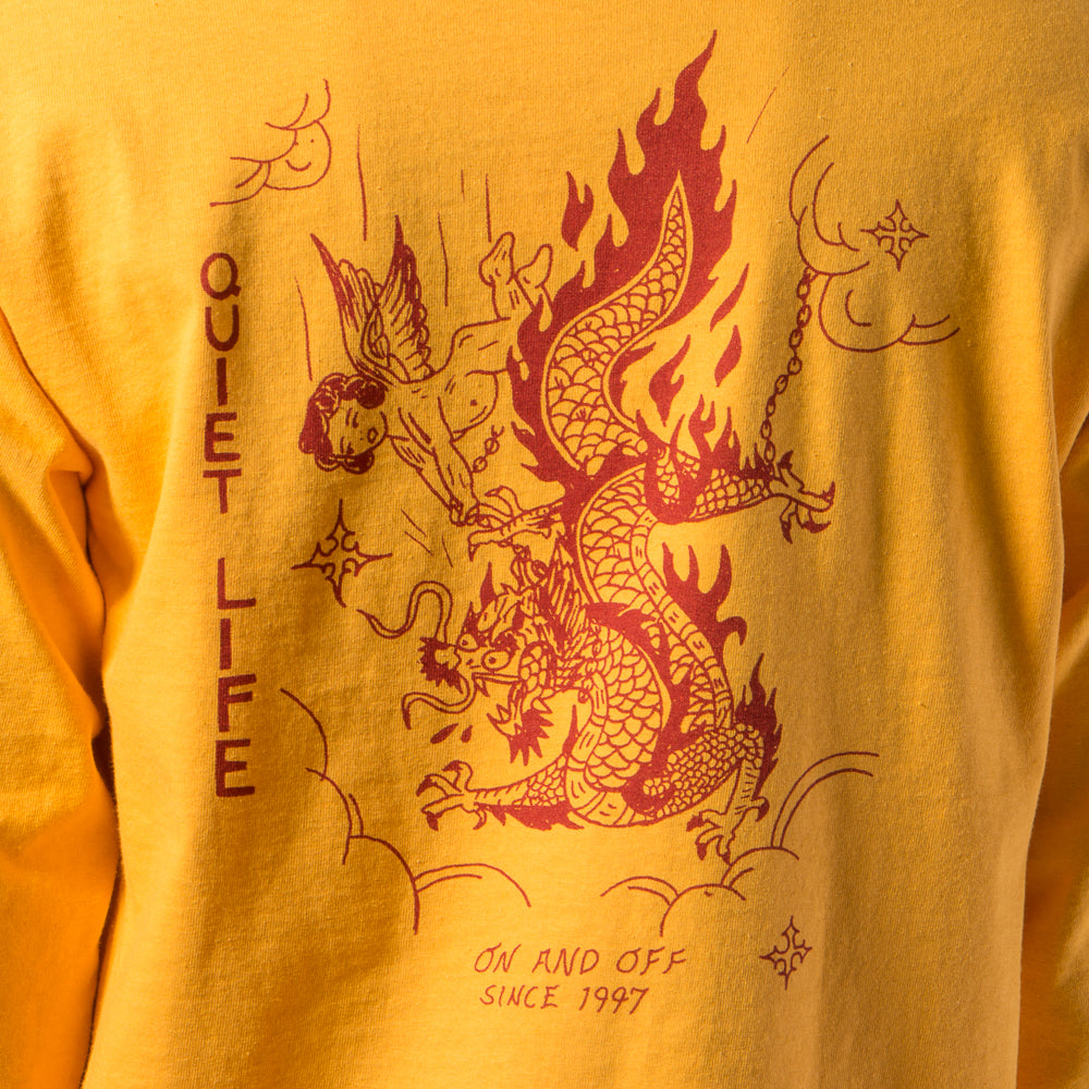 QUIET LIFE BRING ME DOWN LONG SLEEVE T-SHIRT / GOLD