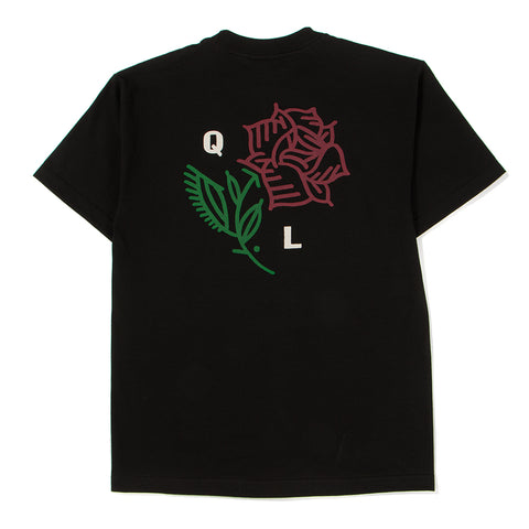 Style code 18SPD11166BLK. QUIET LIFE ROSE T-SHIRT / BLACK
