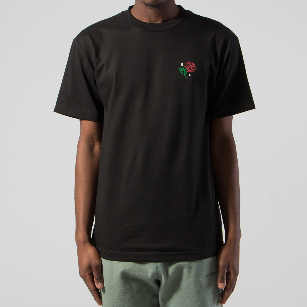 QUIET LIFE ROSE T-SHIRT / BLACK