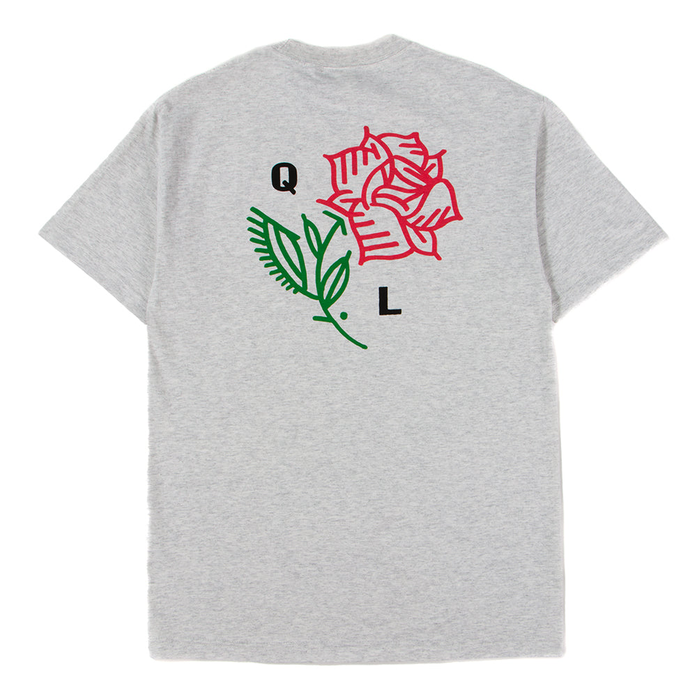 Style code 18SPD11167ASH. Quiet Life Rose T-Shirt / Ash Heather