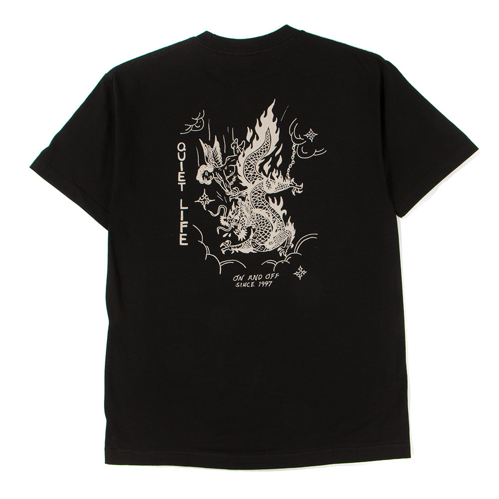 Style code 18SPD11178BLK. QUIET LIFE BRING ME DOWN T-SHIRT / BLACK