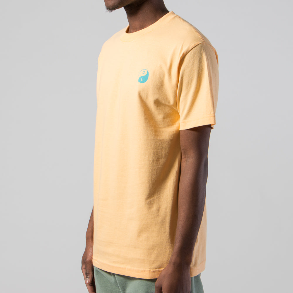 QUIET LIFE YIN YANG T-SHIRT / SQUASH YELLOW