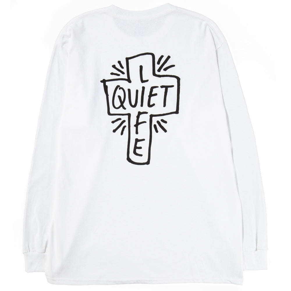 Style code 18SPD22143WHT. Quiet Life Sharpie Long Sleeve T-Shirt / White