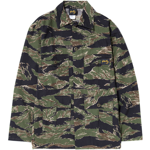 STAN RAY FOUR POCKET MILITARY STYLE JACKET / TIGER STRIPE RIP STOP