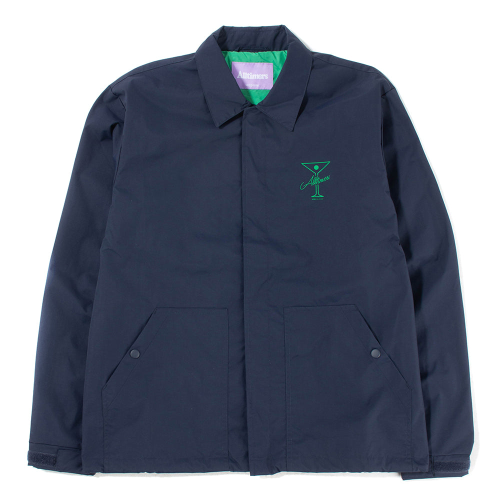 Alltimers Finesse Coaches Jacket / Navy - Deadstock.ca