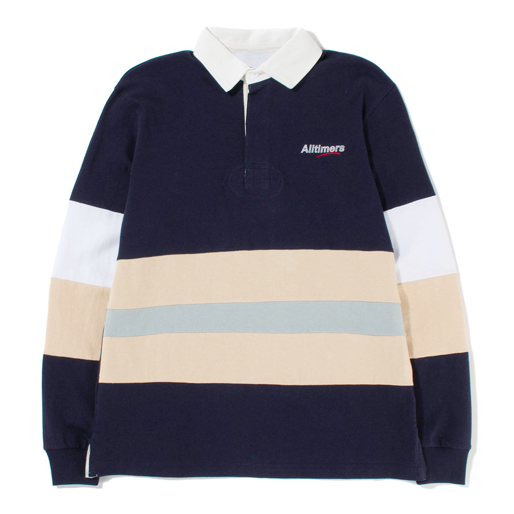 Alltimers Concession Stand Rugby Shirt / Navy - Deadstock.ca