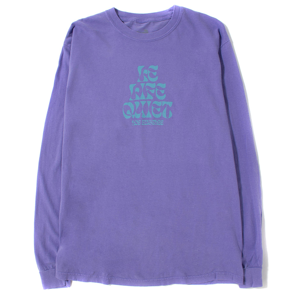 Quiet Life Psych Long Sleeve T-shirt / Purple Wash - Deadstock.ca