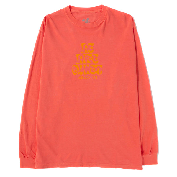 Quiet Life Psych Long Sleeve T-shirt / Salmon Wash - Deadstock.ca