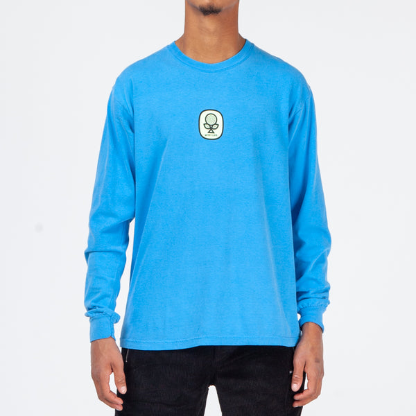 Quiet Life Sprout Long Sleeve T-shirt / Blue Wash