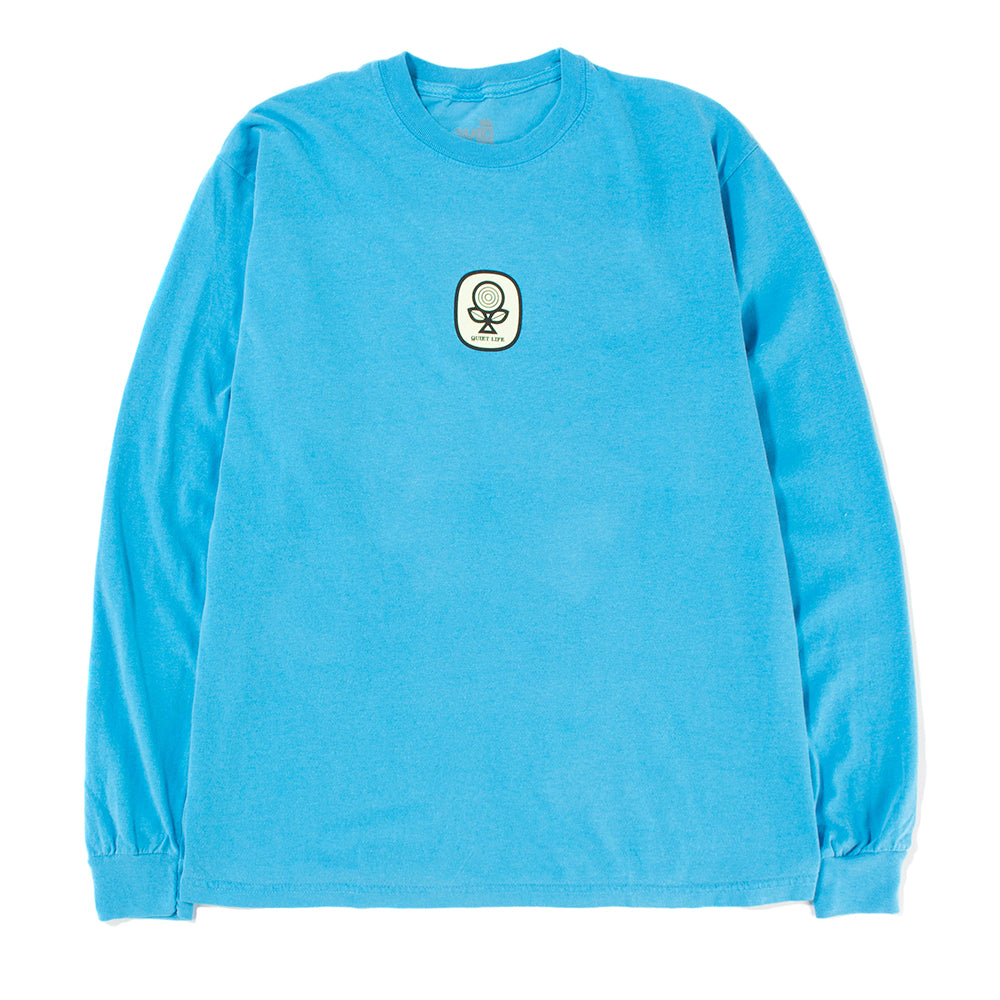Quiet Life Sprout Long Sleeve T-shirt / Blue Wash - Deadstock.ca
