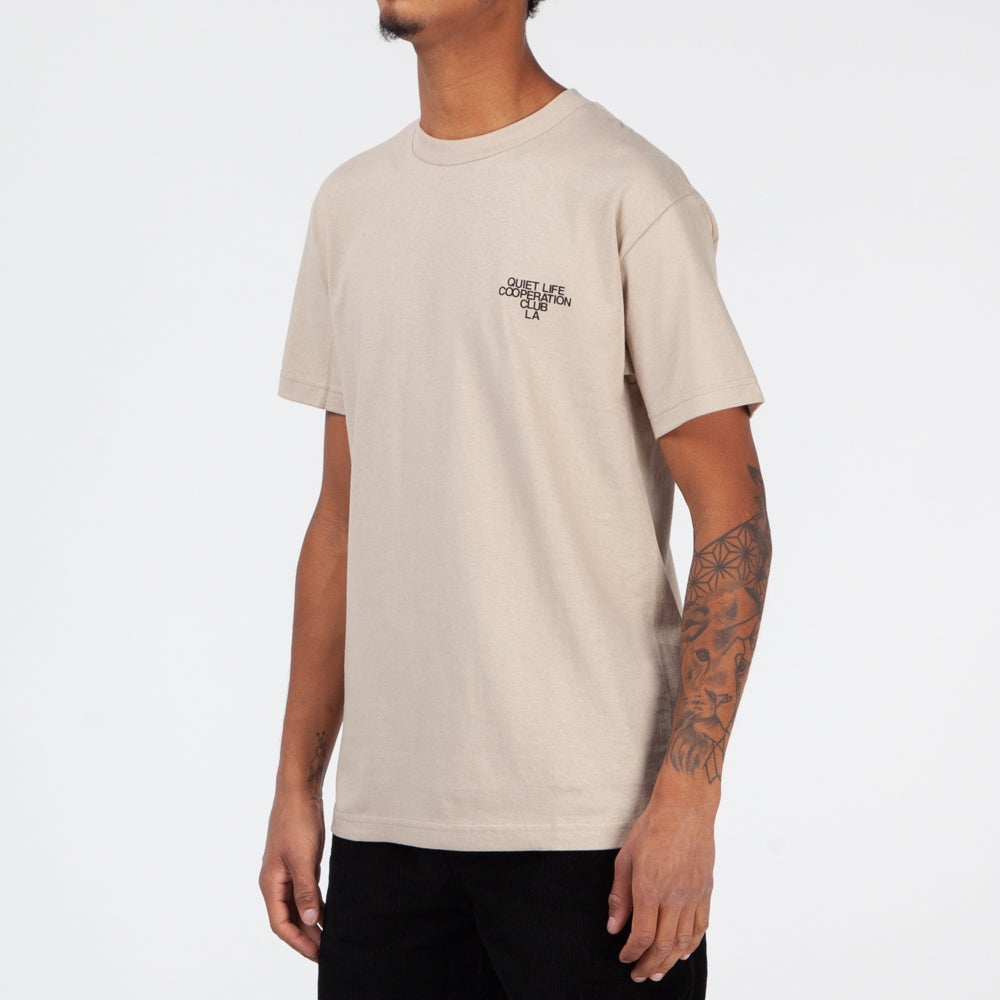 Quiet Life Cooperation Club T-shirt / Sand
