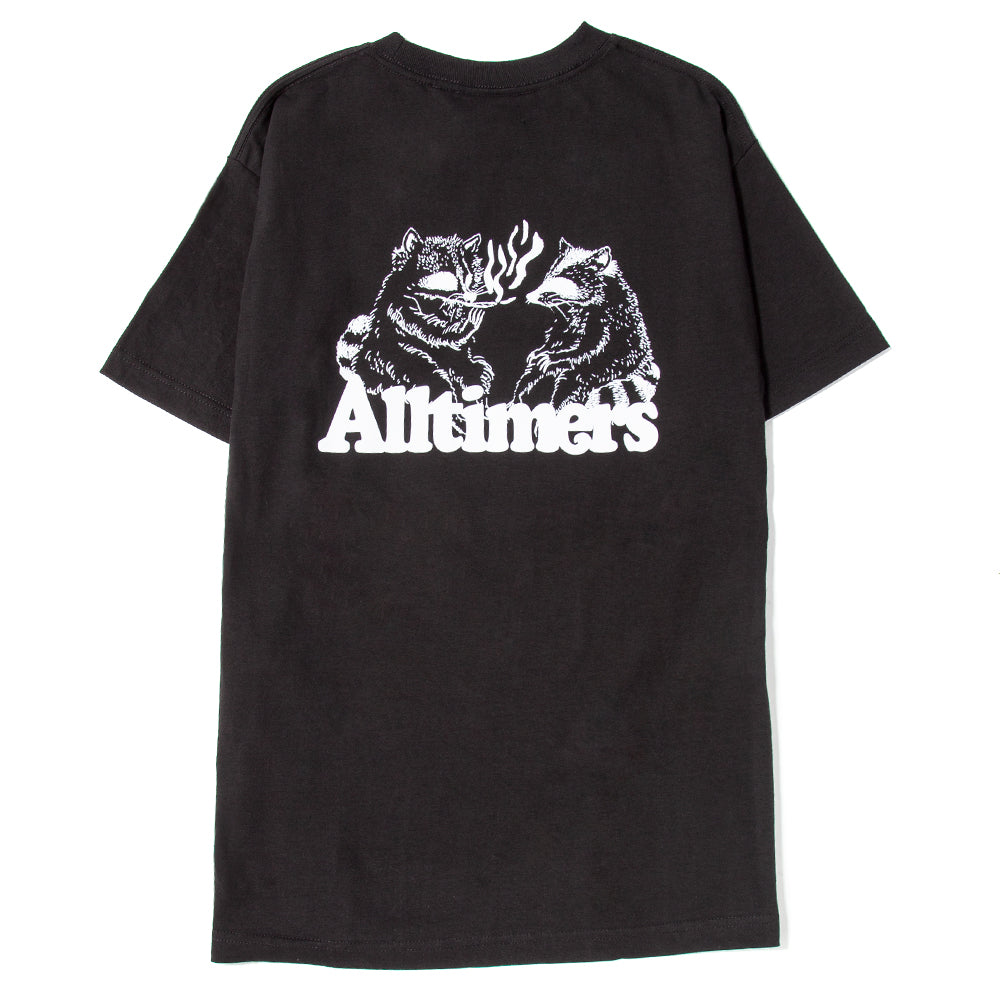 19SP02AP0203BLK Alltimers Raccoons Smoking Pot T-shirt / Black