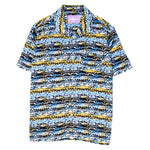 19SP02AP1001BLU Alltimers Dad's Matrix Button Up / Blue