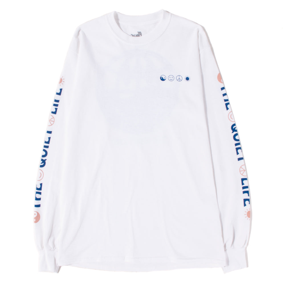 19SPD22133WHT Quiet Life World Peace Long Sleeve T-shirt / White