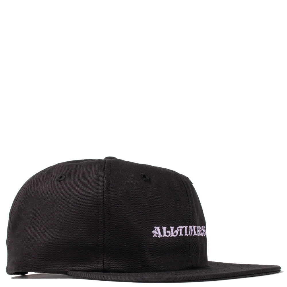 19SU01AP1102BLK Alltimers Aqua Embroidered Twill Hat / Black