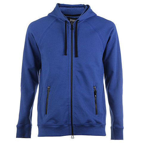 {ie ZIP UP HOODY W/ZIPPER POCKETS / ROYAL - 1
