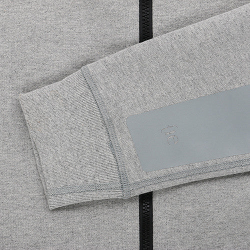 {ie VARSITY ZIP UP / HEATHER GREY - Deadstock.ca
