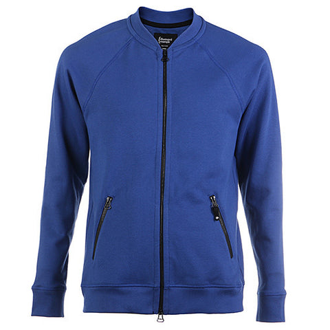 {ie VARSITY ZIP UP W/ZIPPER POCKETS / ROYAL - 1