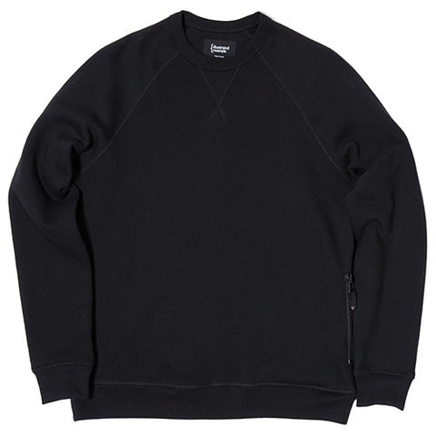 {ie CREWNECK / BLACK - 1