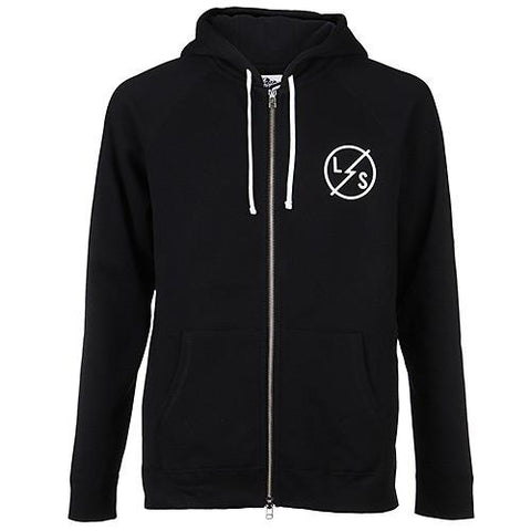 LIVESTOCK ZIP HOODY SLASH / BLACK