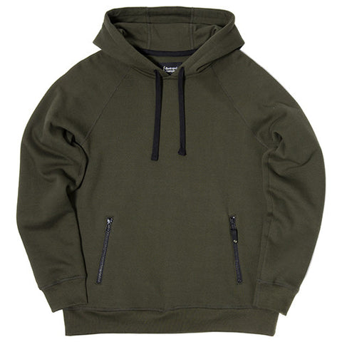 {ie PULLOVER HOODY / OLIVE - 1
