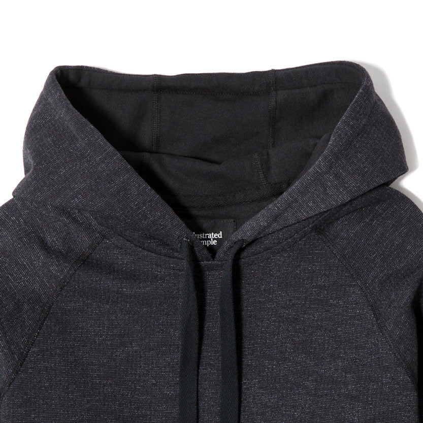 {ie SLUB FRENCH TERRY PULLOVER HOODY / BLACK - 3