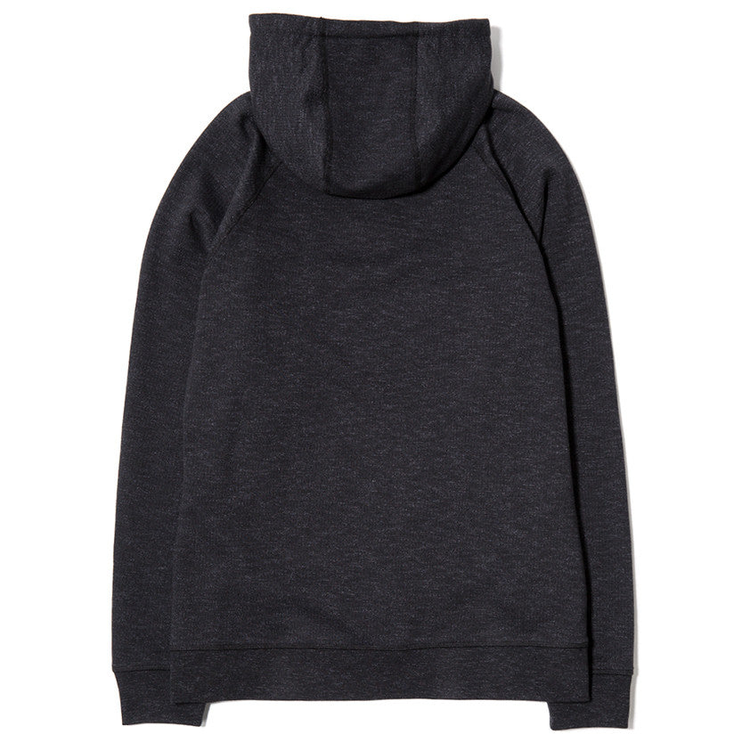 {ie SLUB FRENCH TERRY PULLOVER HOODY / BLACK - 2