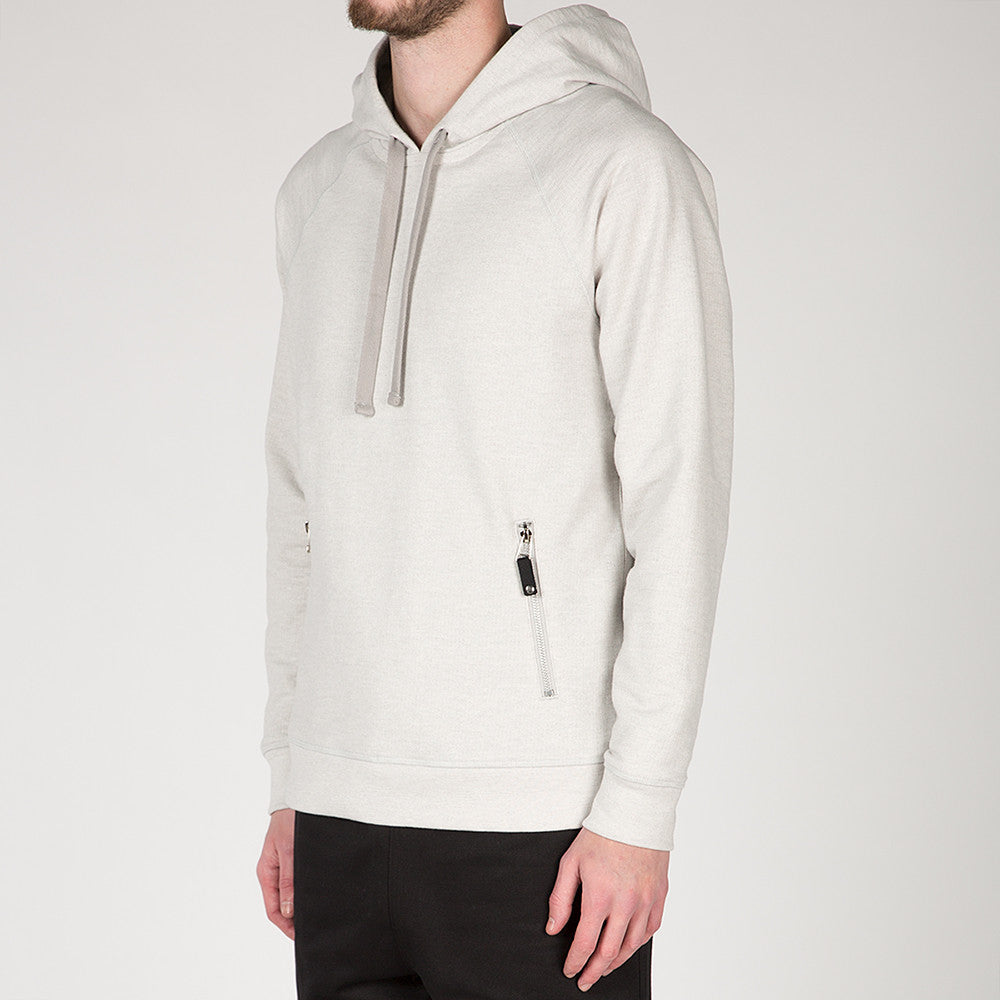 {ie SLUB FRENCH TERRY PULLOVER HOODY / CLOUD