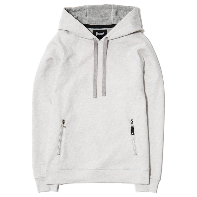 {ie SLUB FRENCH TERRY PULLOVER HOODY / CLOUD - 1