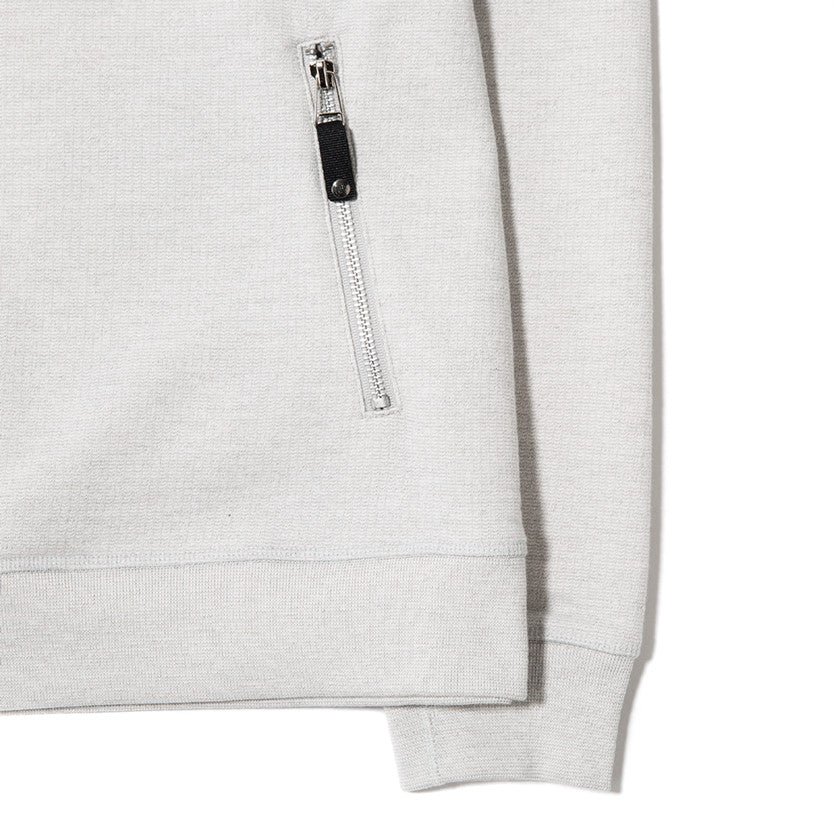 {ie SLUB FRENCH TERRY PULLOVER HOODY / CLOUD - 3
