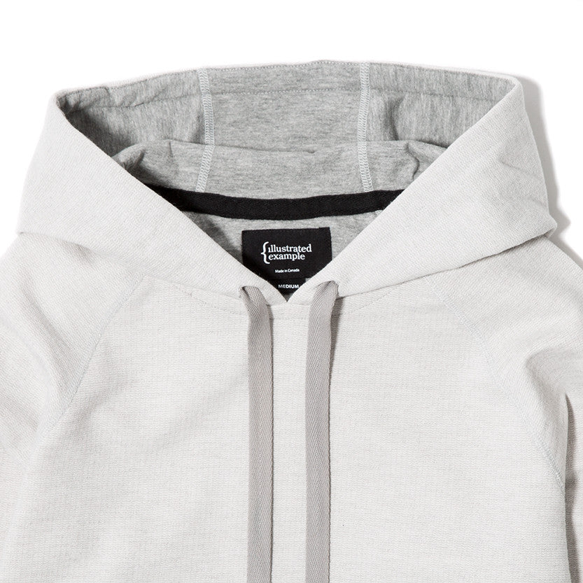 {ie SLUB FRENCH TERRY PULLOVER HOODY / CLOUD - 4