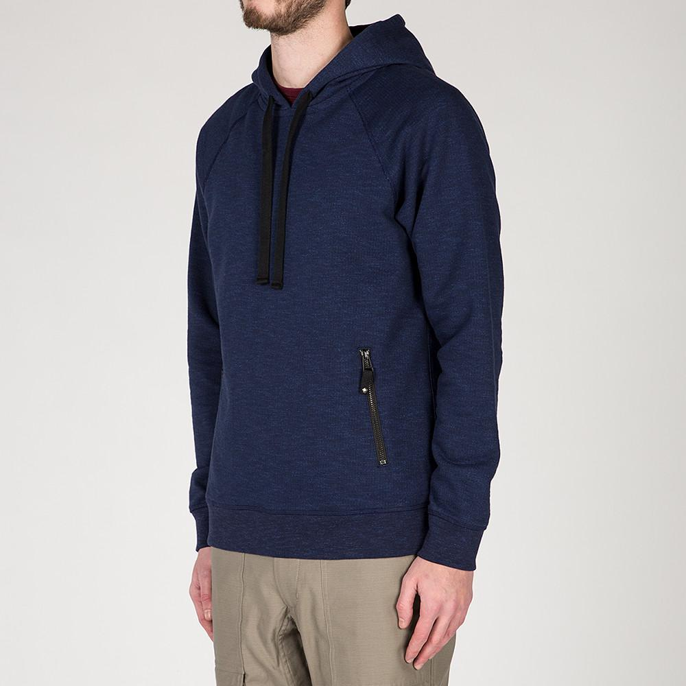 {ie SLUB FRENCH TERRY PULLOVER HOODY / INDIGO