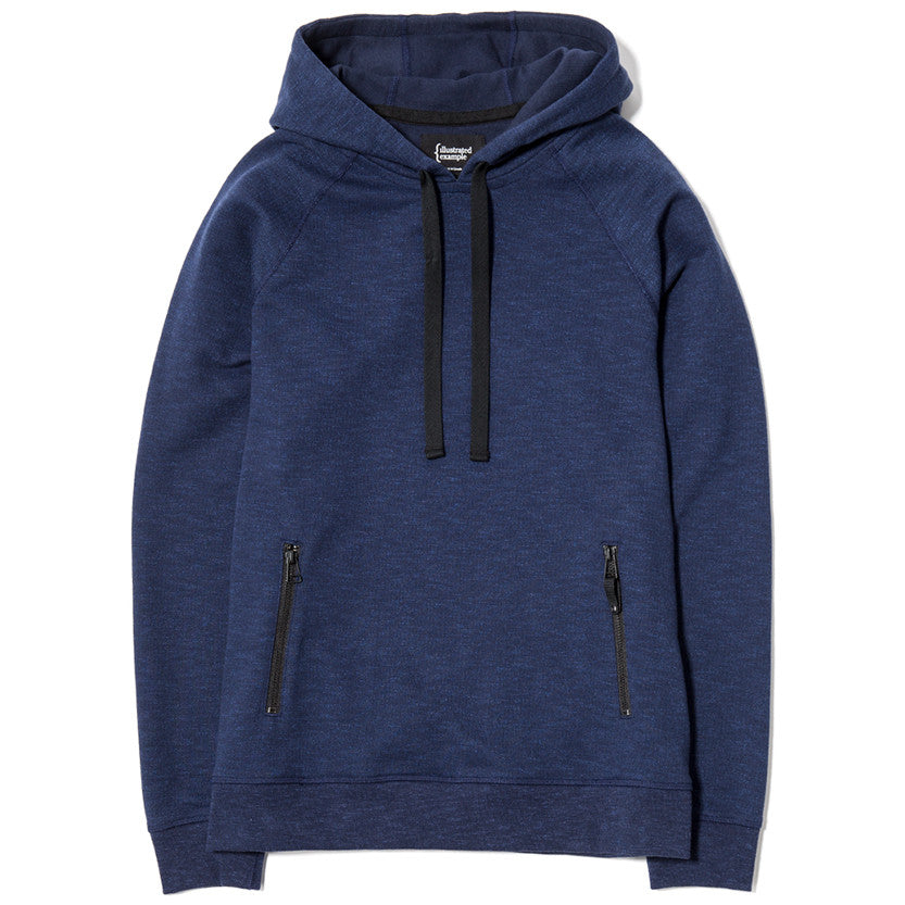 {ie SLUB FRENCH TERRY PULLOVER HOODY / INDIGO - 1