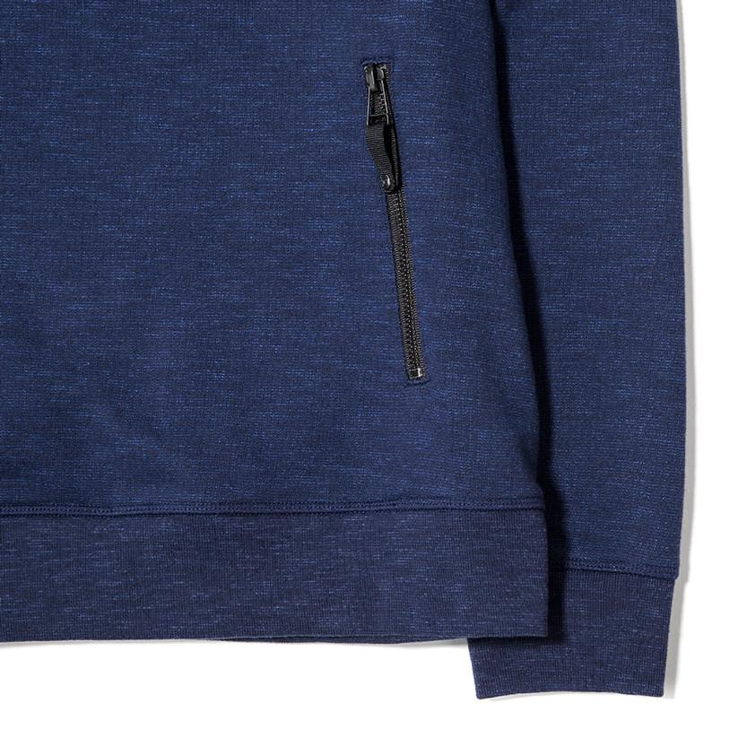 {ie SLUB FRENCH TERRY PULLOVER HOODY / INDIGO - 3