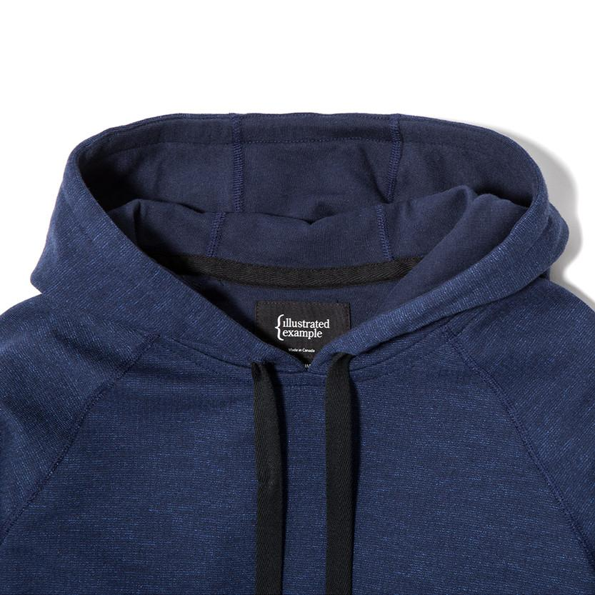 {ie SLUB FRENCH TERRY PULLOVER HOODY / INDIGO - 4