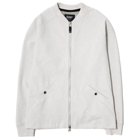 {ie SLUB FRENCH TERRY VARSITY ZIP UP / CLOUD - 1