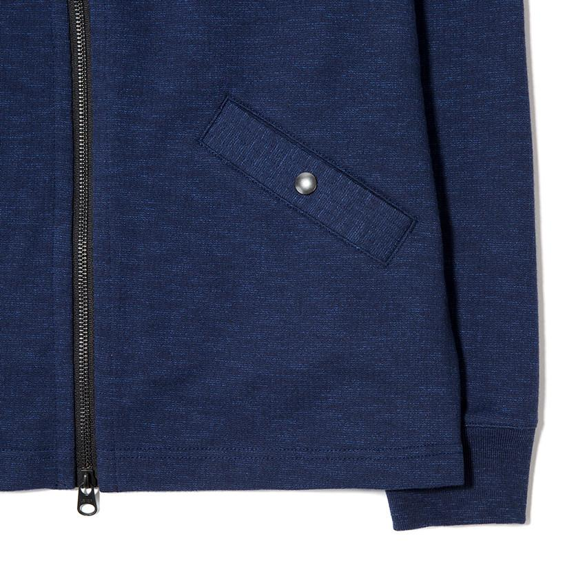 {ie SLUB FRENCH TERRY VARSITY ZIP UP / INDIGO - 3