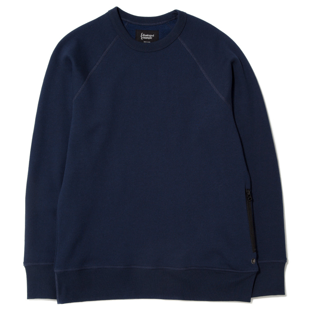 style code 2022TEF17HNV. {ie CREWNECK PULLOVER / HEATHER NAVY
