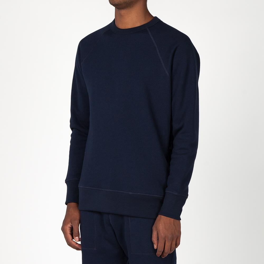 {ie CREWNECK PULLOVER / HEATHER NAVY
