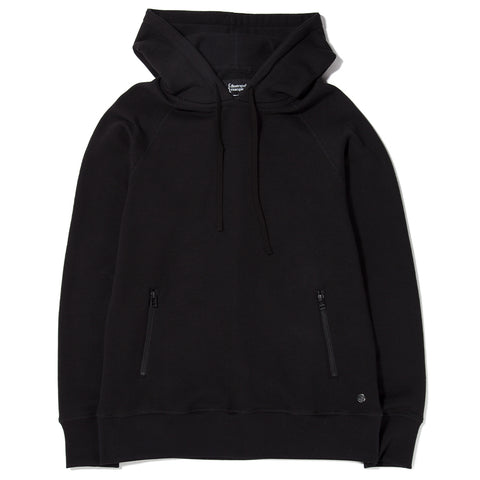 style code 2023TEF17BLK. {ie PULLOVER HOODY / BLACK