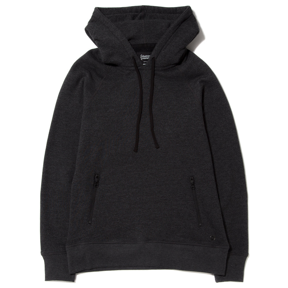 style code 2023TEF17HCH. {ie PULLOVER HOODY / HEATHER CHARCOAL